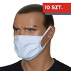 ZESTAW 10 szt. - Maska bawełniana na twarz - biała