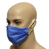 Maska bawełniana na twarz - niebieska