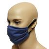 Maska bawełniana na twarz - granatowa
