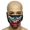 Maska na twarz z nadrukiem ZBROJOWNIA - Gad - czarna