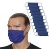 ZESTAW 10 szt. - Maska bawełniana na twarz - granatowa