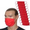 ZESTAW 10 szt. - Maska bawełniana na twarz - czerwona