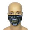 Maska na twarz z nadrukiem ZBROJOWNIA - Terminator - czarna