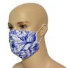 Niebieskie Kwiaty - bawełniana maska wielorazowa z certyfikatem OEKO-TEX
