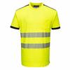 T-Shirt ostrzegawczy PW3 PORTWEST T181 - Żółty/Czarny