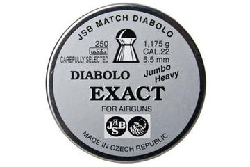 śrut 5,52 mm JSB EXACT JUMBO HEAVY 250 szt.