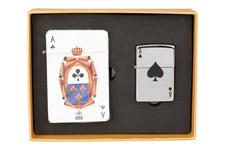 Zestaw ZIPPO - zapalniczka Zippo z logo AS Pik + karty