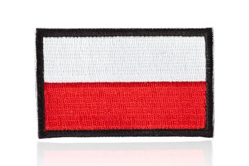 naszywka velcro flaga Polski standard 7,2 x 4,5 cm, czarne obszycie