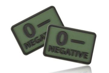 naszywka emblemat GRUPA KRWI kpl. 2szt. PVC olive green