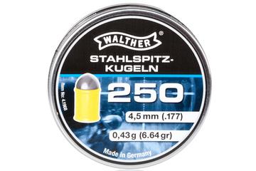 śrut 4,5 mm WALTHER HIGH-POWER półokrągły w polimerowym płaszczu 250 szt.