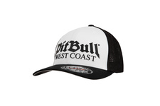 Czapka Pit Bull Full Cap Classic Mesh Old Logo'20 - Biała/Czarna