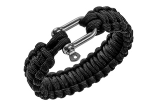 "Bransoletka PARACORD BCB 9"" Paracord bracelet -black- with metal closure"