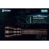 Latarka akumulatorowa Speras T1 OSRAM 1200 lumenów Zasięg 1300m!  + 2x akumulator o pojemności 2600 mAh