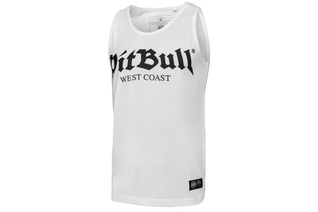Tank Top Pit Bull Slim Fit Lycra Old Logo'20 - Biały