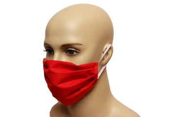Maska bawełniana na twarz - czerwona