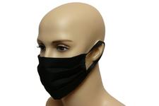 Maska bawełniana na twarz - czarna