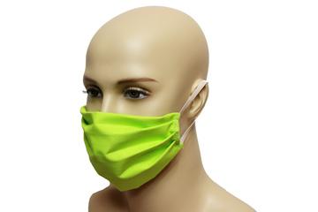 Maska bawełniana na twarz - zielona