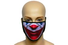 Maska na twarz z nadrukiem ZBROJOWNIA - Joker - czarna