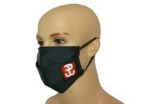 Maska bawełniana na twarz Polska Walcząca - czarna