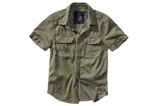 Koszula krótki rękaw BRANDIT Vintage Shirt - Oliwkowa