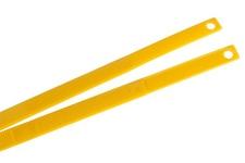 Kajdanki jednorazowe, żółte - wzór USA