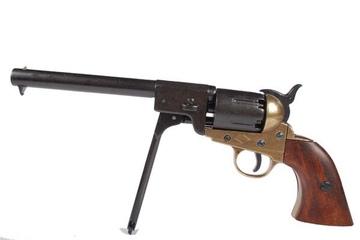 Replika rewolweru Colt Navy z 1851r, złoto-czarne wykończenie