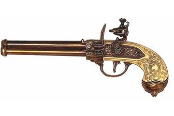 Replika trzylufowego pistoletu skałkowego z XVII w