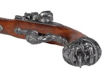 Replika włoskiego pistoletu skałkowego z XVIII w.
