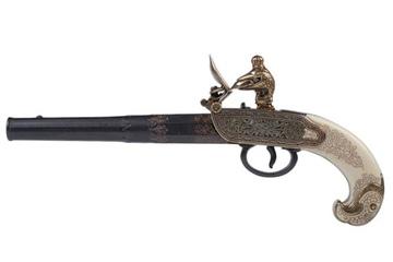Replika rosyjskiego pistoletu skałkowego z XVIII w.