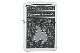 Zapalniczka ZIPPO Lifetime Friends, High Polish Chrome