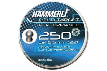 śrut 5,5 mm HAMMERLI FT PERFORMANCE, półokrągły 250 szt