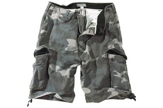 szorty SURPLUS VINTAGE SHORTS WASHED - Night Camo