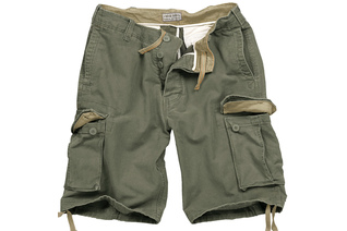 szorty SURPLUS VINTAGE SHORTS WASHED - Olive