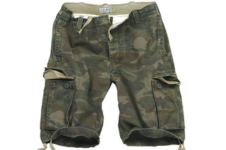 szorty SURPLUS VINTAGE SHORTS WASHED - Woodland