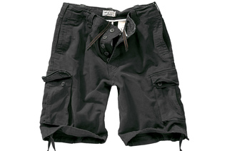 szorty SURPLUS VINTAGE SHORTS WASHED - Black