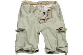 szorty SURPLUS VINTAGE SHORTS WASHED - Beige
