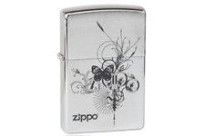 Zapalniczka ZIPPO Butterfly, Brushed Chrome